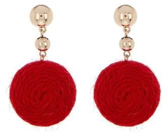 Ettika Thread Circle Drop Earrings