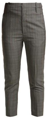 Etoile Isabel Marant Noah Cropped Wool Trousers - Womens - Light Grey