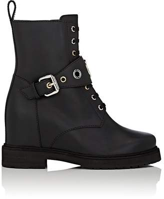 Fendi Women's Buckle-Strap Leather Ankle Boots