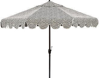 One Kings Lane Phoebe Scallop-Edge Patio Umbrella - White Spot
