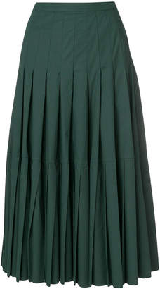 Rochas pleated midi skirt