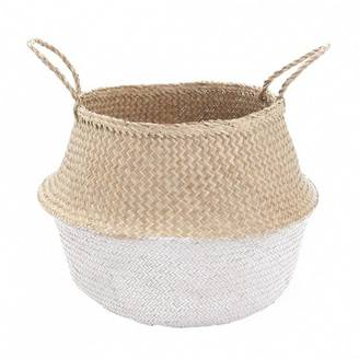 Large Dipped Belly Basket - White