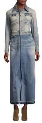 Roberto Cavalli Buttoned Denim Dress