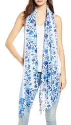Nordstrom Painted Linen Blend Scarf