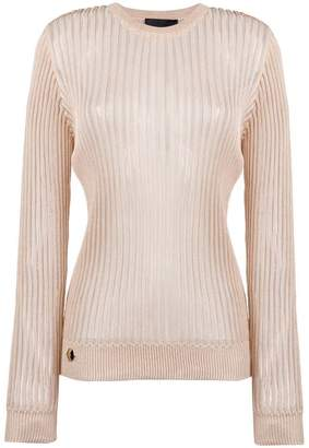 Philipp Plein sheer stripe sweatshirt
