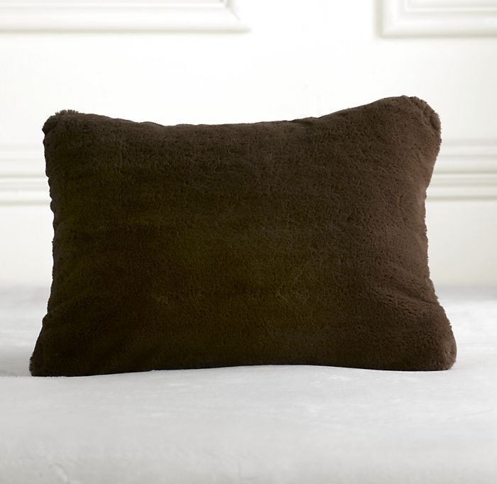 Luxury Plush Travel Pillow Chocolate