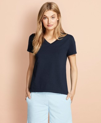 Brooks Brothers Garment-Dyed V-Neck T-Shirt