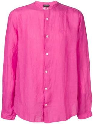 Emporio Armani grandad collar shirt