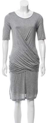 Burberry Drape-Accented Knee-Length Dress