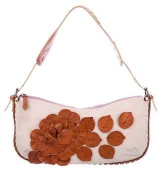 Valentino Floral Suede Shoulder Bag
