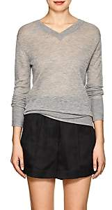 Helmut Lang Women's Cashmere V-Neck Sweater-Gray