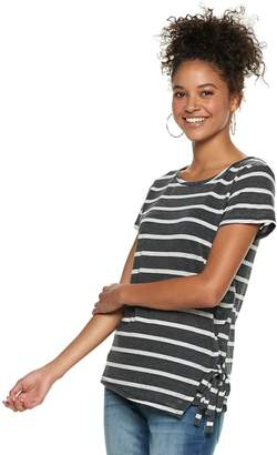 Grayson Threads Juniors' Lace-Up Tee