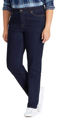 Chaps Plus Mid-Rise Straight Jeans