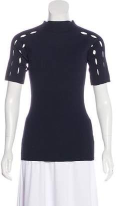 Nomia Rib Knit Short Sleeve Top