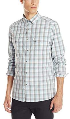 Kenneth Cole New York Kenneth Cole Men's Long-Sleeve Check Elbow Patch Shirt