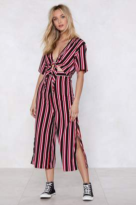 Nasty Gal Get Straight to It Striped Crop Top and Pants Set