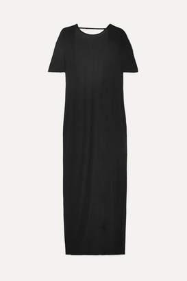 Ninety Percent Net Sustain Open-back Tencel Maxi Dress - Black