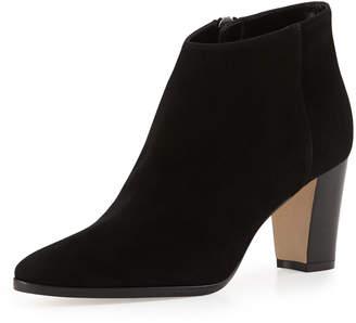 Manolo Blahnik Brustamod Suede Block-Heel Ankle Boots