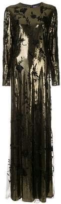 Ralph Lauren floral beaded dress