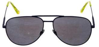 Saint Laurent Mirrored Aviator Sunglasses