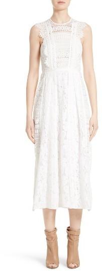 Women's Burberry Annabella Mixed Lace Dress
