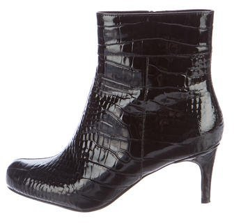 Kate Spade New York Embossed Patent Leather Ankle Boots