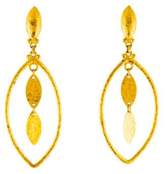 Gurhan 24K Willow Geo Drop Earrings yellow 24K Willow Geo Drop Earrings
