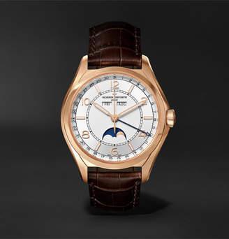 Vacheron Constantin Fiftysix Automatic Complete Calendar 40mm 18-Karat Pink Gold And Alligator Watch