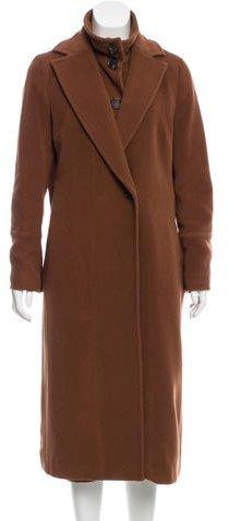 Akris PuntoAkris Punto Wool-Blend Underlay Coat