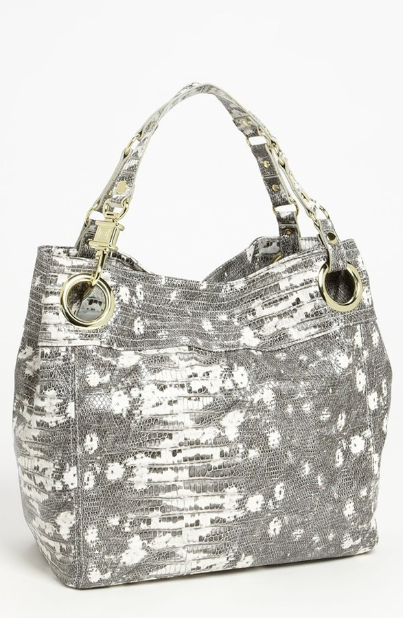 Steve Madden Steven by 'Candy Coated' Lizard Embossed Tote