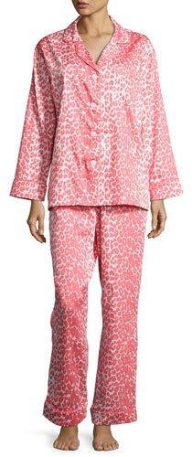 BedHeadBedhead Wild Thing Classic Pajama Set, Coral/Ivory, Plus Size