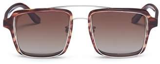 Lau PERCY x JINNNN double rim acetate square sunglasses