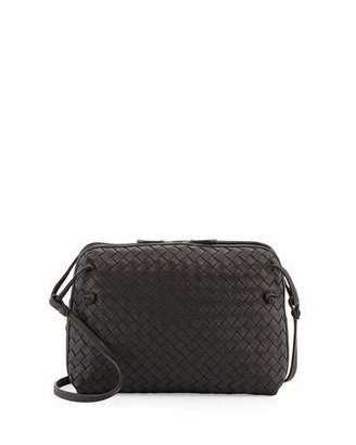 Bottega Veneta Intrecciato Double-Compartment Bag, Nero Black $2,040 thestylecure.com