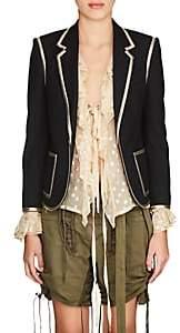 Saint Laurent Women's Wool One-Button Blazer - Black