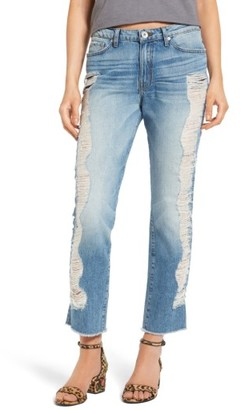 Women's Band Of Gypsies Quinn Ripped Ankle Jeans $98 thestylecure.com