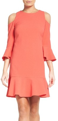 Women's Chelsea28 Cold Shoulder Ruffle Dress $149 thestylecure.com