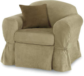 JCPenney Maytex Mills Maytex Smart Cover Stretch Suede 2-pc. Chair Slipcover