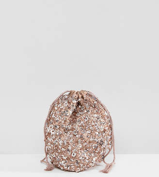 Maya Allover Sequin Oversized Coin Purse