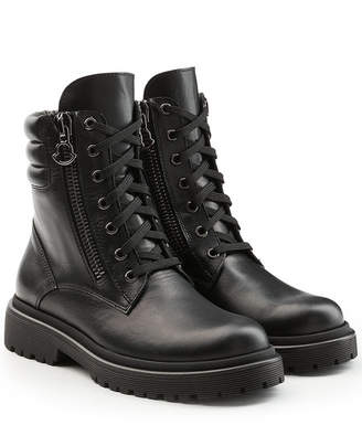 Moncler New Vivianne Leather Ankle Boots