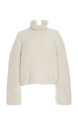 Loewe Cropped Cashmere Pearls Sweater