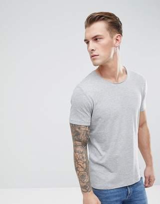 Esprit Organic T-Shirt With Raw Edge