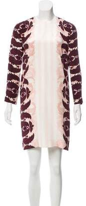 Mother of Pearl Silk Printed Dress