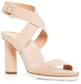 Halston Women's Nala Suede Ankle Wrap High Heel Sandals