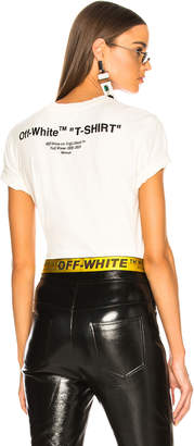 Off-White Off White Quotes Casual Tee in White & Black | FWRD