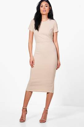 boohoo Fitted Midi Tailored Dress