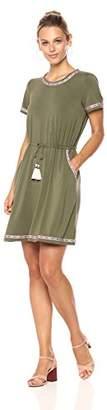 Ella Moon Women's Kimani Short-Sleeve Tassel Dress