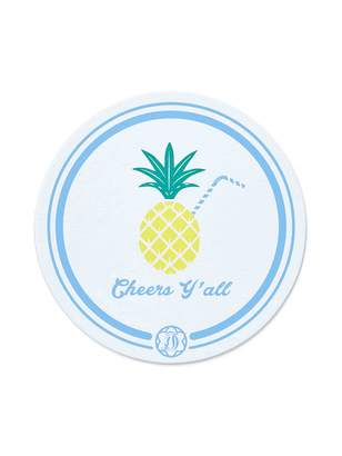 Draper James Pineapple Paper Coaster Set