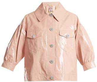 Shrimps - Luca Puff Sleeved Cropped Jacket - Womens - Light Pink