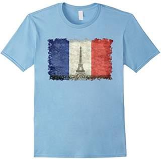 Paris Eiffel Tower and French flag T-Shirt V2