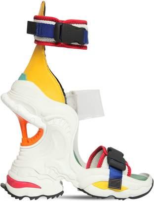 DSQUARED2 100mm Giant Neoprene & Plexi Sandals